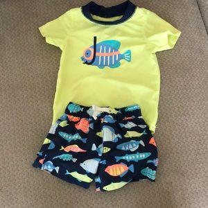 Carters matching boys swim - 9 months